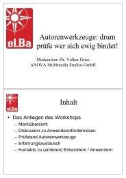 Workshop-Leitfragen - e-Learning Baltics