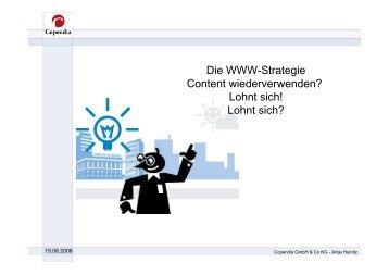 Die WWW-Strategie Content wiederverwenden ... - e-Learning Baltics