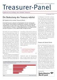 Die Bedeutung des Treasury wächst - Der Treasurer
