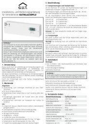 und Bedienungsanleitung für Verteilerleiste GUTKL6230PLU