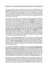 Grußwort von Landessuperintendent Dr. Martin Dutzmann