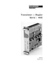 Transistor — Regler Serie : 4KS - Kollmorgen