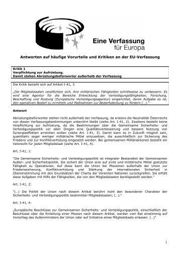 EU-Verfassung - ECHA-Österreich