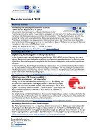 Newsletter eco-bau 2/2012