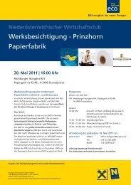 Werksbesichtigung - Prinzhorn Papierfabrik - Ecoplus International ...