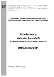 Bedarfsplanung BS BL Bericht 2011 - Erziehungsdepartement
