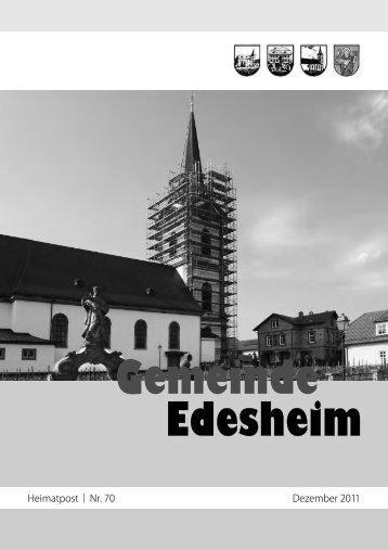 Heimatpost ¦ Nr. 70 Dezember 2011 - Gemeinde Edesheim