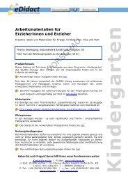 Arbeitsmaterialien Kita - Von der Winterolympiade zu ... - bei eDidact