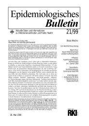 Epidemiologisches Bulletin 21/99 - RKI
