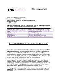 ERASMUS-Erfahrungsbericht : NIZZA  2010/2011 - Akademisches ...