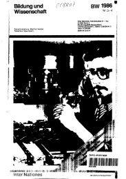 Bildung und Wissenschaft BW 1986