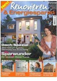 Renovieren & Energiesparen 2. Ausgabe 2009 (pdf Dokument