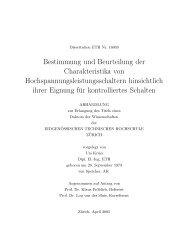 Urs Krüsi, Bestimmung und Beurteilung der Charakteristika von ...