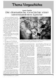 Thema Vorgeschichte: Die dramatische Geschichte einer ...