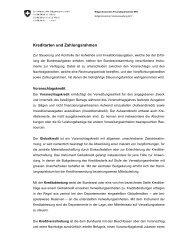 Kreditarten und Zahlungsrahmen - Eidgenössische ...