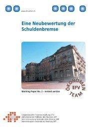 Eine Neubewertung der Schuldenbremse (2004) - Eidgenössische ...