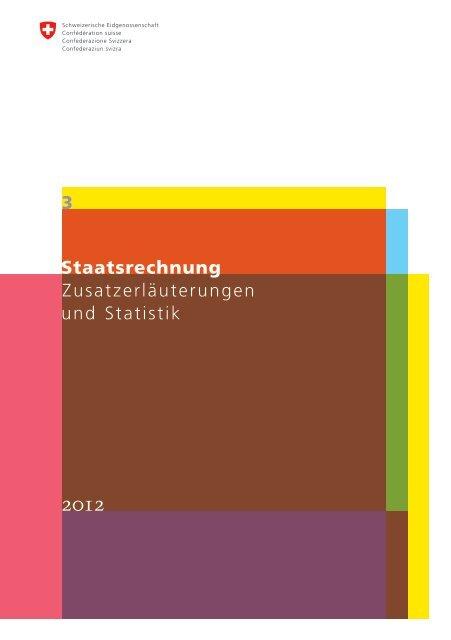 Band 3 Zusatzerläuterungen und Statistik R2012 - Eidgenössische ...