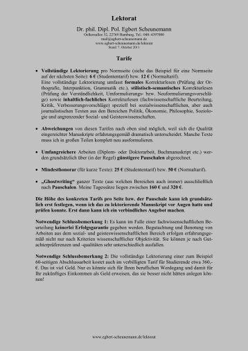 Lektorat - Scheunemann, Egbert