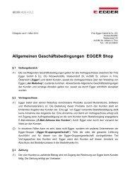 EGGER Shop, Allgemeine Geschäftsbedingungen (PDF)