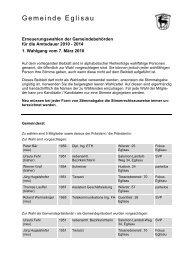 Brief Gemeinderat - Gemeinde Eglisau