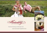 Sommerurlaubs-Angebote 2012 - Hotel Hindenburg