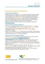Antworten - Ehrenamtskarte Nordrhein-Westfalen