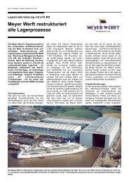 Meyer Werft restrukturiert alle Lagerprozesse - Ehrhardt + Partner