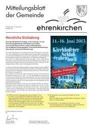 14.-16. Juni 2013 - Gemeinde Ehrenkirchen