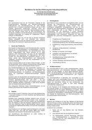 Richtlinien für die Durchführung des Industriepraktikums