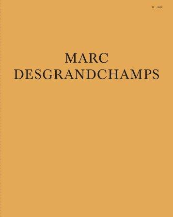 MARC DESGRANDCHAMPS - Galerie EIGEN+ART