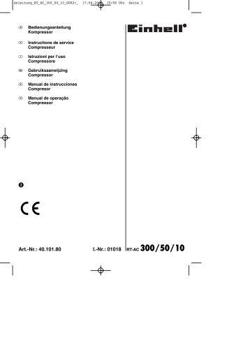 Nr.: 01018 RT-AC 300/50/10 - Einhell