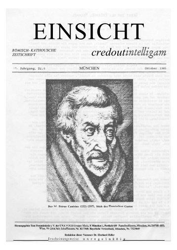 15. Jahrgang, Heft 4 (Oktober 1985) - Einsicht-online.de