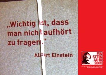 Broschüre zum Einsteinjahr 2005