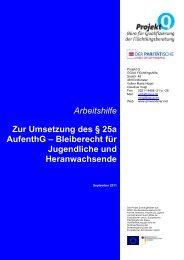 Arbeitshilfe Zur Umsetzung des § 25a AufenthG – Bleiberecht für ...