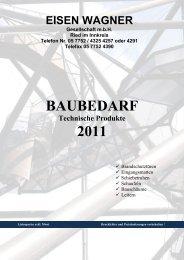 BAUBEDARF 2011 - Eisen Wagner