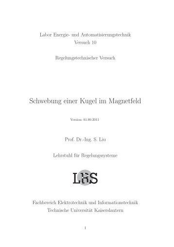 Schwebung einer Kugel im Magnetfeld - Fachbereich Elektrotechnik ...
