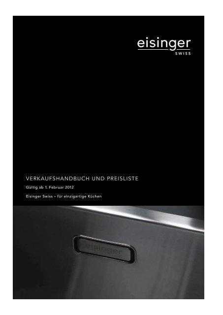 Verkaufshandbuch Und Preisliste Eisinger Swiss