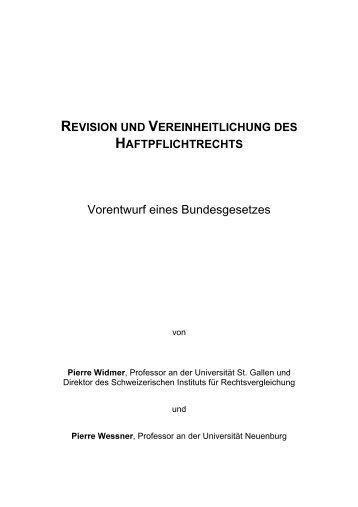 Vorentwurf eines Bundesgesetzes: Revision und ... - EJPD
