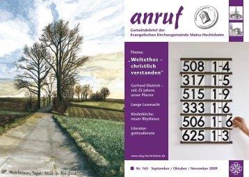 anruf - Evangelische Kirchengemeinde Mainz-Hechtsheim