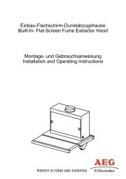 Flat-Screen Fume Extractor Hood Montage - Electrolux