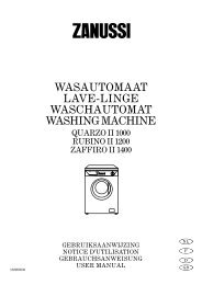 wasautomaat lave-linge waschautomat washing ... - Electrolux-ui.com