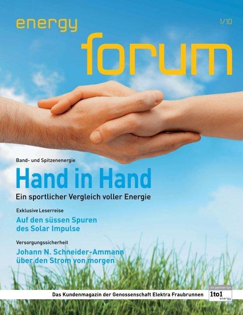 energy forum - Genossenschaft Elektra, Jegenstorf