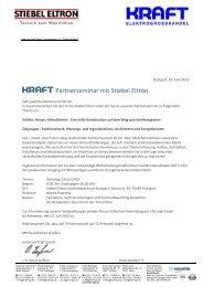 KRAFT Partnerseminar mit Stiebel Eltron
