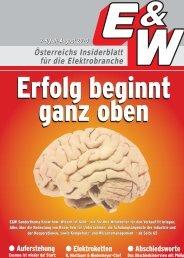 Österreichs Insiderblatt für die Elektrobranche 7-8/Juli-August ... - E&W