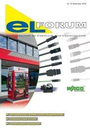 Schwerpunkt: Kabel-/Verbindungstechnik - elforum