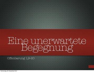 Offenbarung 1,9-20 - ELIA-Gemeinde Erlangen