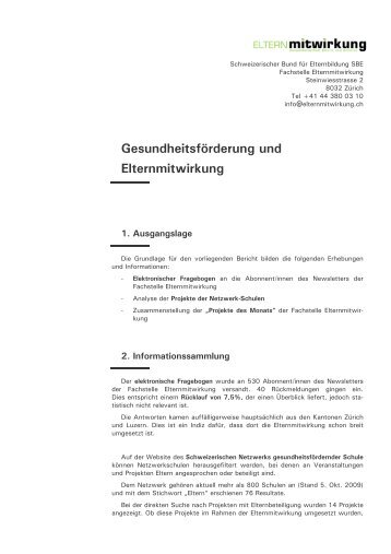(Bericht Gesundheitsf\366rderung - EMW Okt 09 f\374r Website)