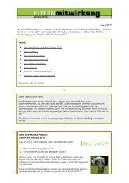Newsletters als pdf - Fachstelle Elternmitwirkung
