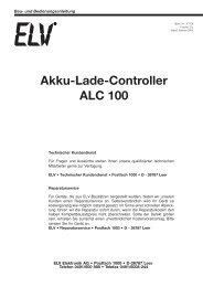 Akku-Lade-Controller ALC 100 - ELV