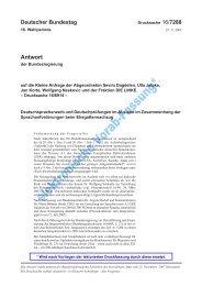 Kleine Anfrage der Fraktion DIE LINKE, Bundestags-Drucksache 16 ...